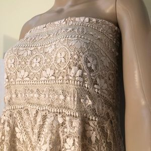 Long lacy strapless Free People dress